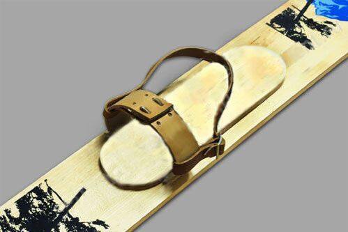Крепления для охотничьих лыж - кожа (без амортизатора)