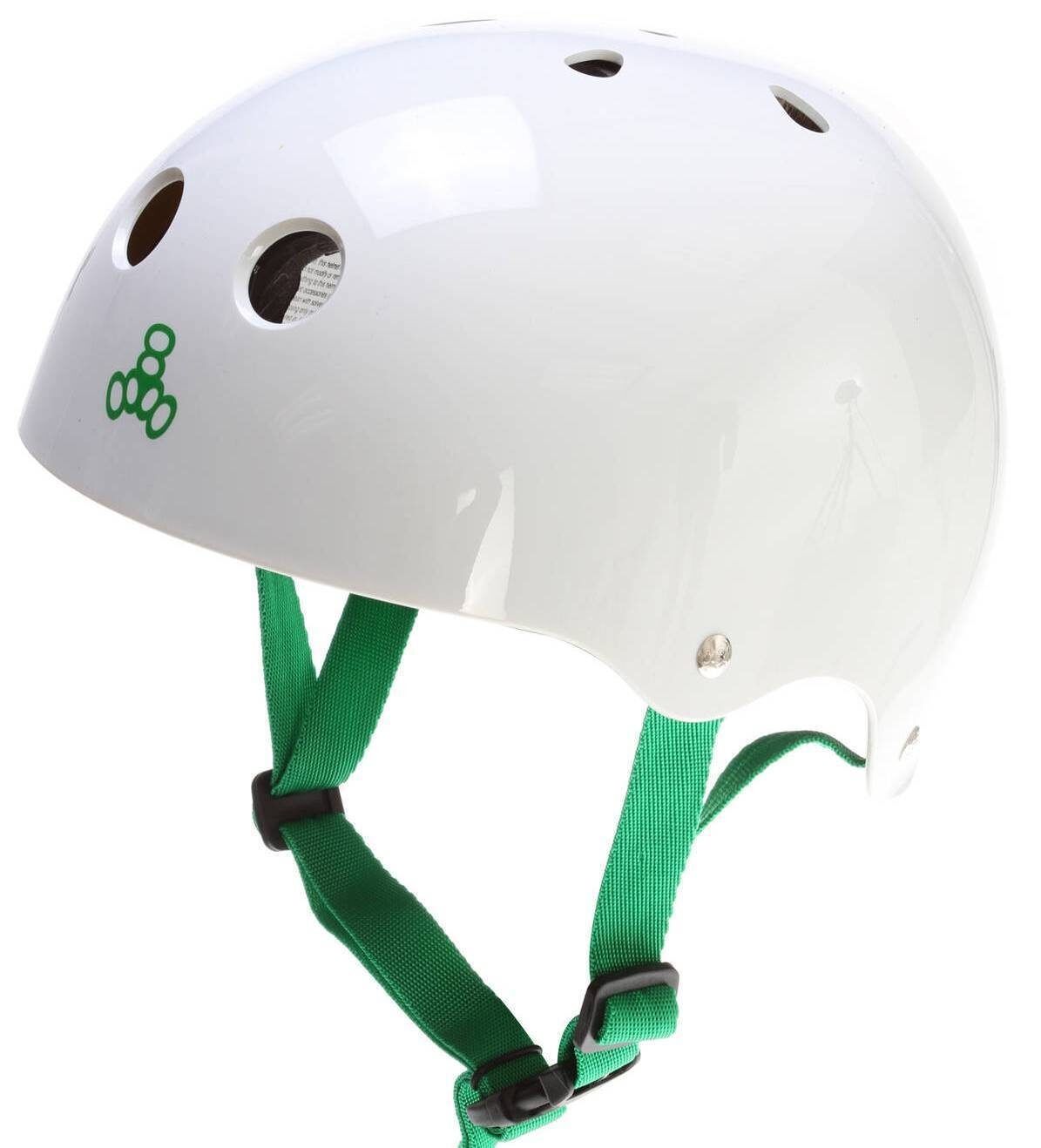 Шлем летний TripleEight White Gloss